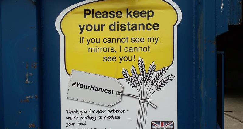 NFU SE #YourHarvest safety sticker_74242