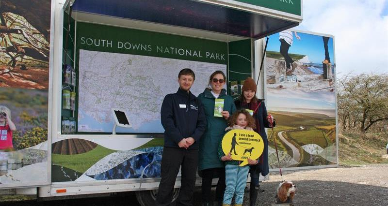 South Downs rangers with NFU #takethelead_61650