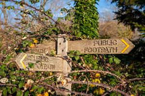 public footpath sign multi directional_71336
