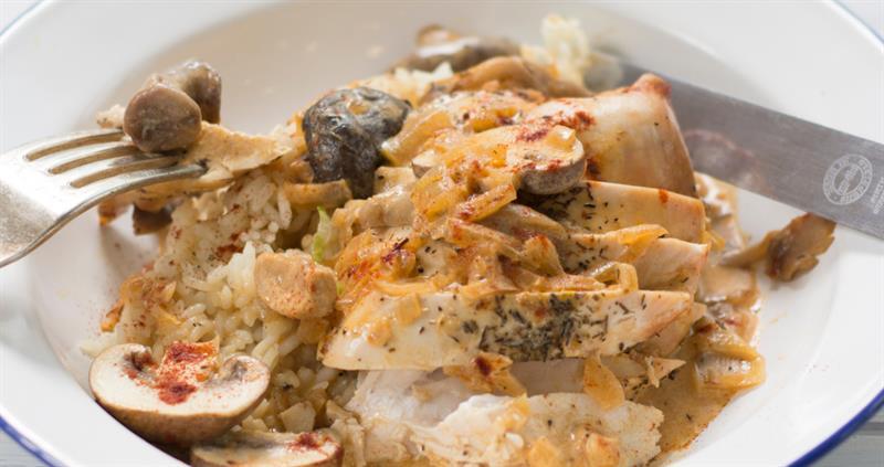 Chicken and mushroom stroganoff_60474
