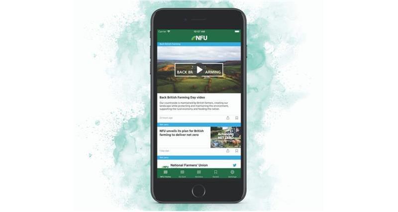 NFU App homescreen_68903