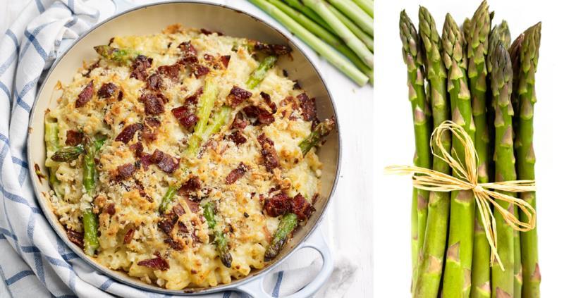 Asparagus mac 'n' cheese with bacon crumble_43660