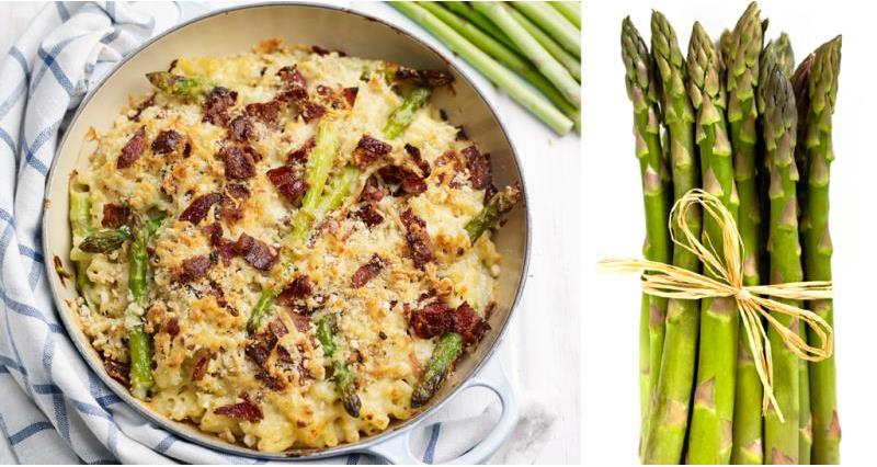 Asparagus mac 'n' cheese with bacon crumble_43660