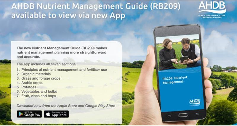 NEW nutrient management app launched by AHDB