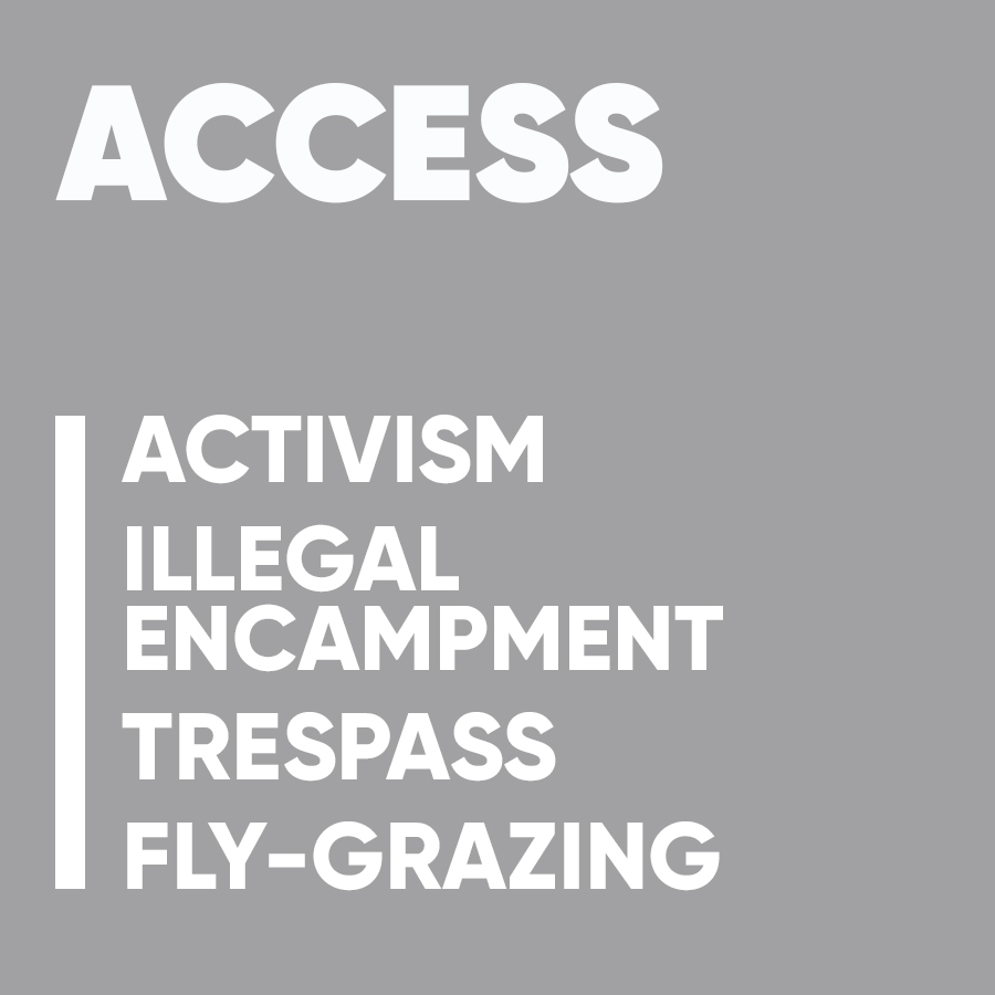 rural crime hub buttons access