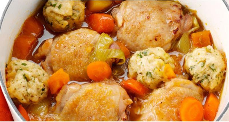 Chicken Stew with Herb Dumplings_61594