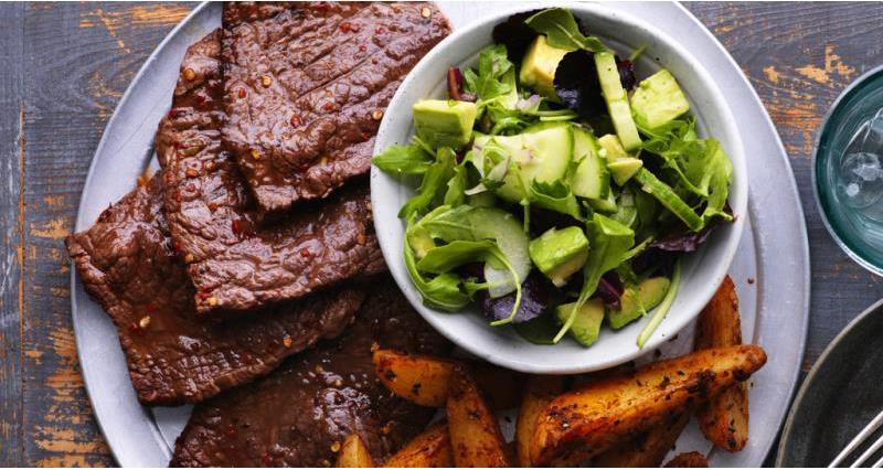 Citrus marinated steaks