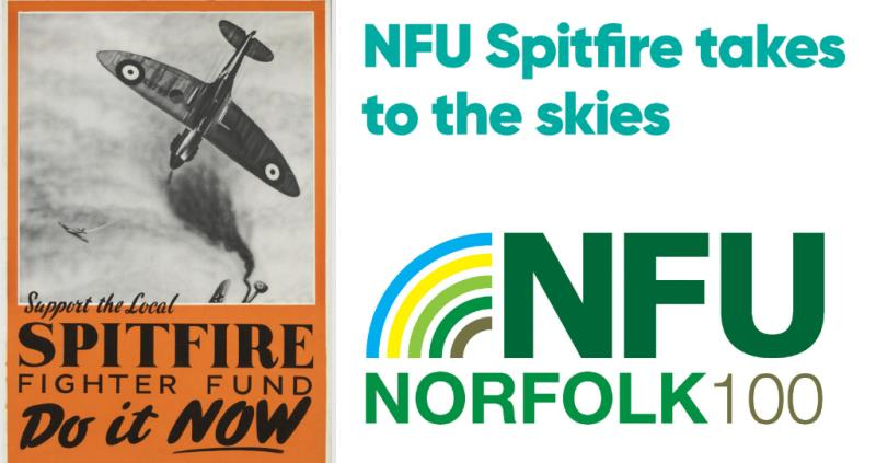 Norfolk 100 - NFU spitfire takes to the skies_58607