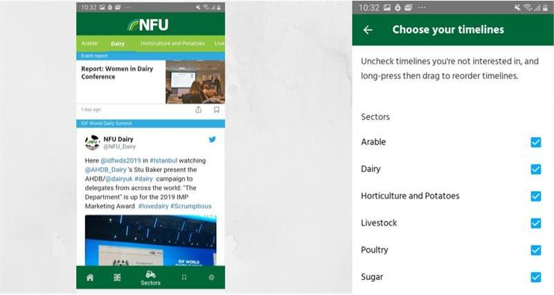 NFU App - choose your sectors_69356