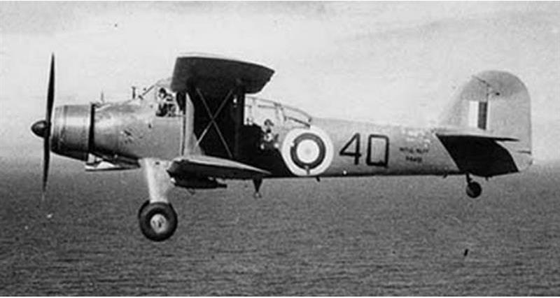 Biplane bomber: The Fairey Albacore bomber, known affectionately by its crews as the 'Applecore' - picture credit Ian Grace._74817