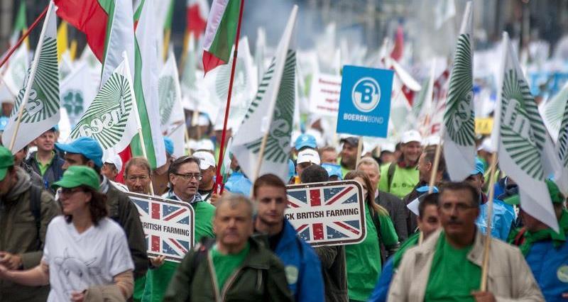 EU farming unions' protest,Brussels_30001