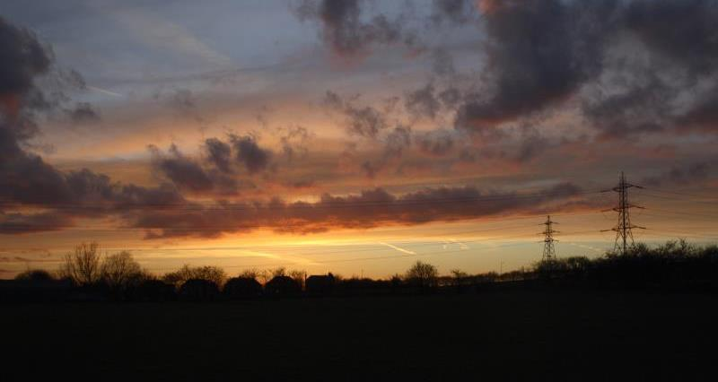 Pylons at sunset_12713