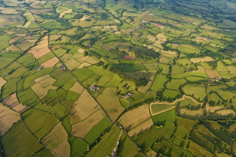 Aerial view of countryside_18811