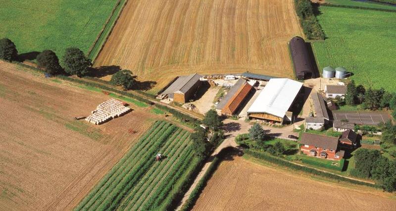 Aerial view of farmland_7717
