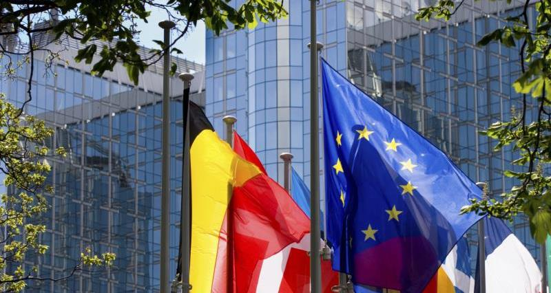 Flags at European parliament_11728
