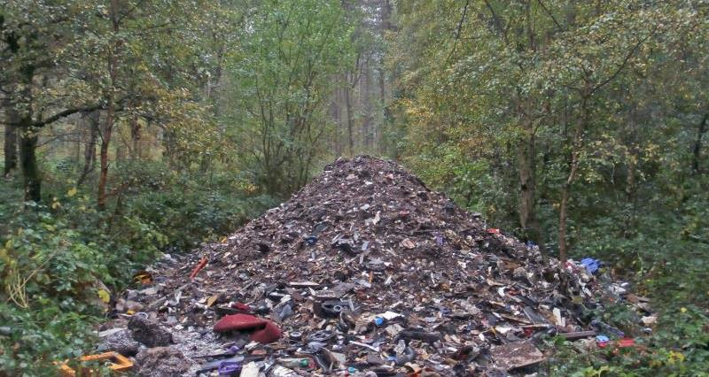 Scourge of the countryside: These fly-tipping images show true scale of problem