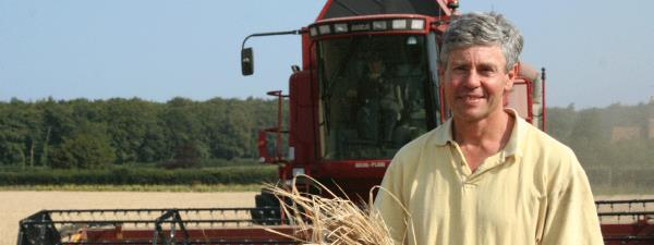 Norfolk barley farmer Teddy Maufe. East Anglian farmers grow enough malting barley to deliver 3.3 billion pints of beer a year.