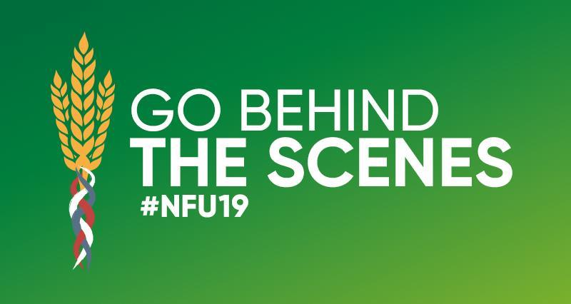 Go behind the scenes with the NFU at #NFU19