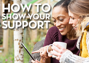 How to show your support web image