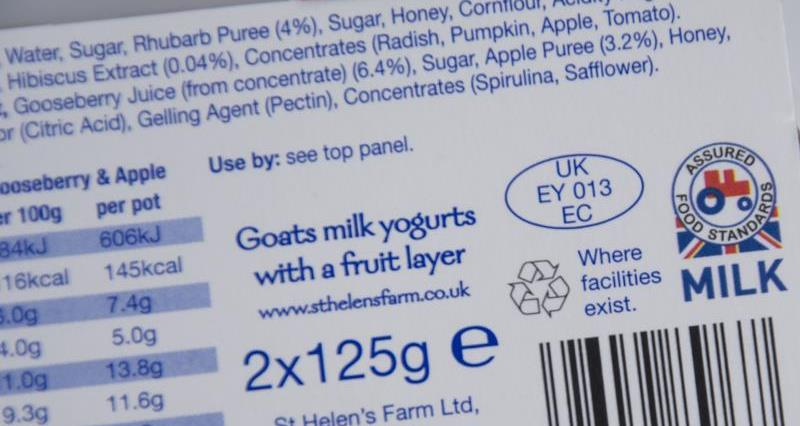 Red Tractor label goats milk yogurt, Waitrose_38642