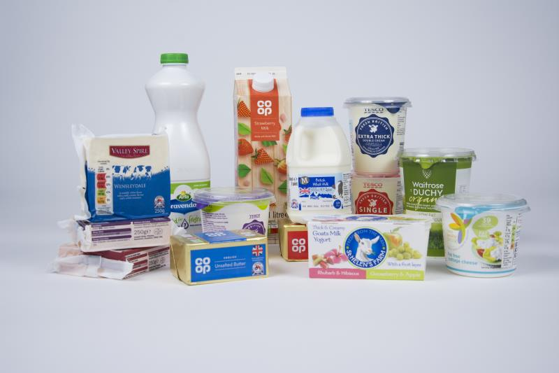 Red Tractor labelled dairy products_38596