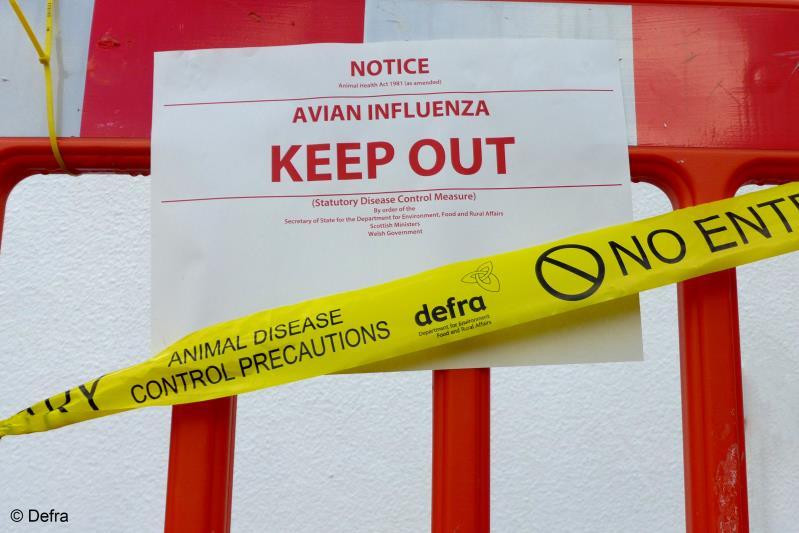 Defra Bird Flu Sign