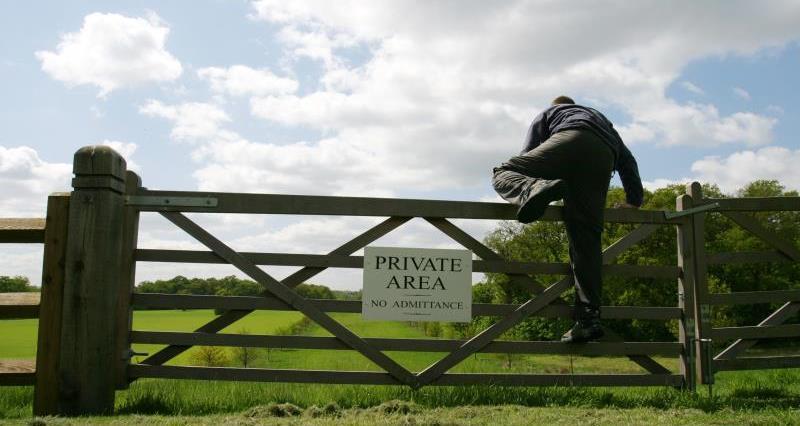 Rural crime thief breaking into farm_44978