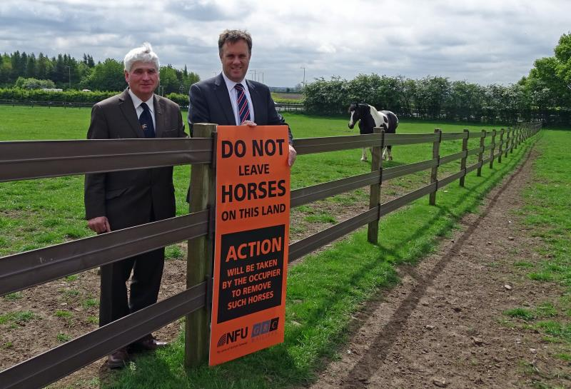 Julian Sturdy MP with David Shaw and Flygrazing sign_28408