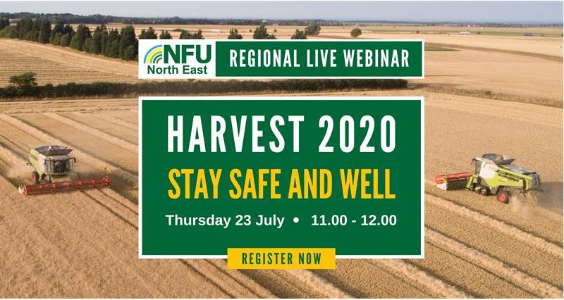 NFU urges farmers to 'Stay Safe and Well' this harvest