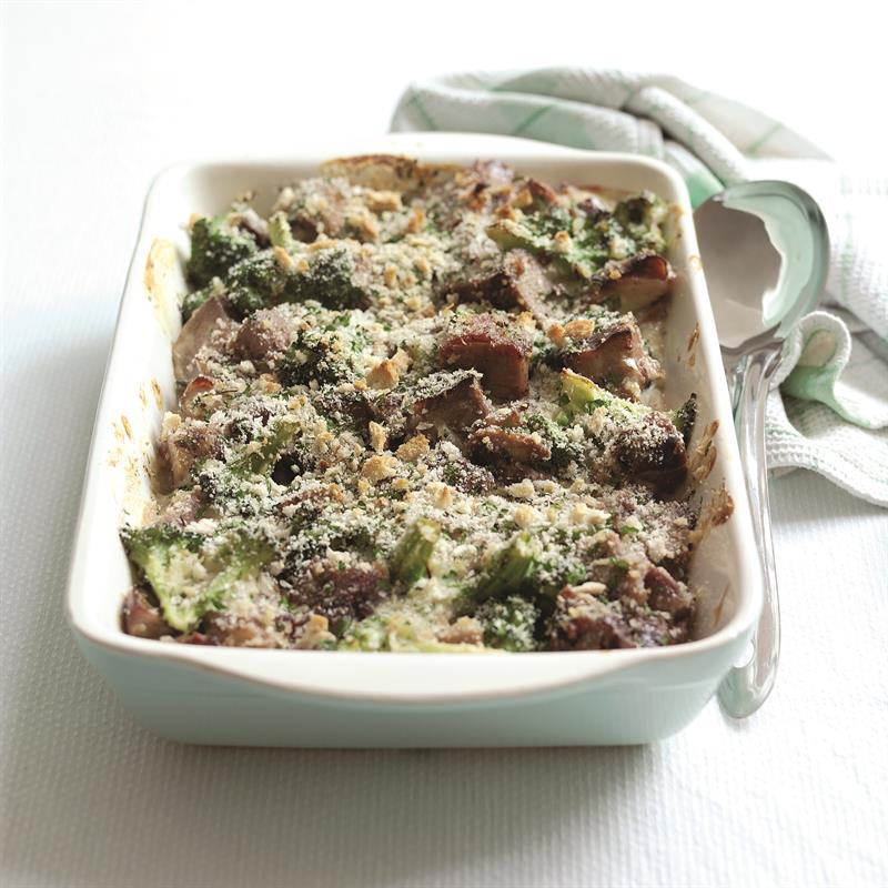 Lamb and broccoli bake