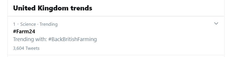 #Farm24 trending at number one in the UK_74404