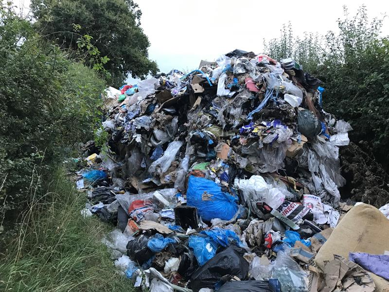 fly-tipping - rubbish dumped on a farm in Warwickshire_70764