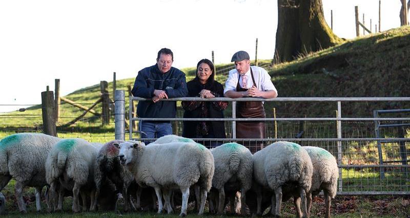 Chef Lorna Nanda Gangotra, farmer Tim Metson and butcher Simon Taylor_69350