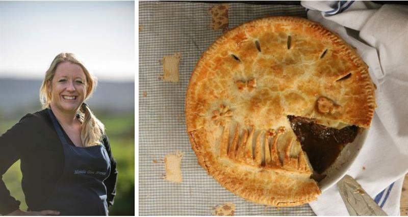 Miranda Gore Browne and a picture of her beef pie _71748