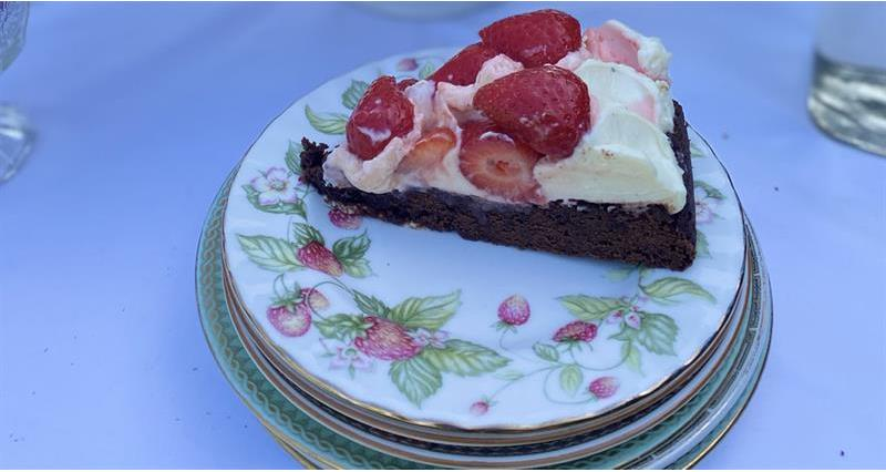 Strawberry and chocolate cheesecake tart_73776
