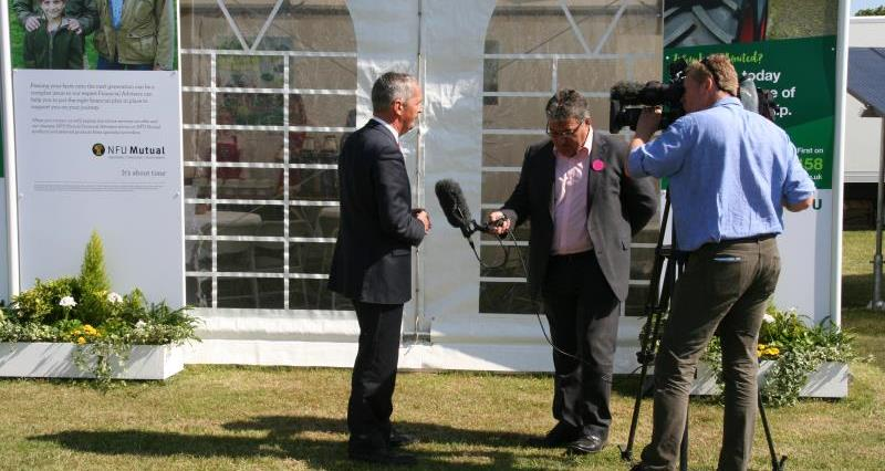 Guy Smith being interviewed by BBC Look East at Suffolk Show_29334