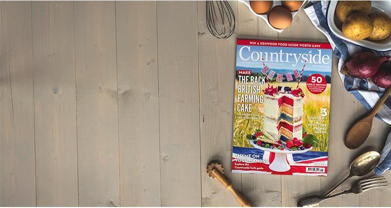 Countryside magazine - Back British Farming cake cover promo_67848