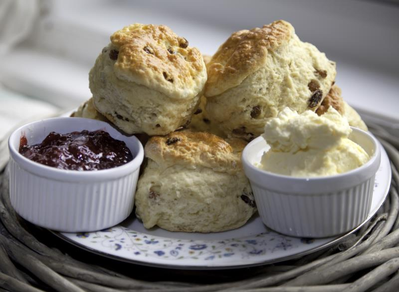 Jam and Cream Scone_44779