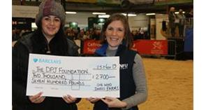 NFU Cymru presents cheque to The DPJ Foundation