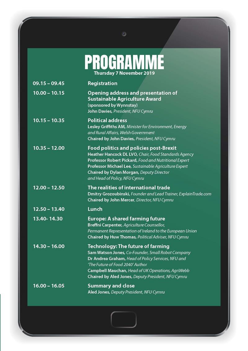 NFU Cymru Conference agenda_69727
