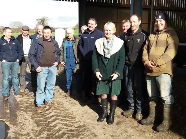 Sian Gwenllian AM meeting NFU Cymru members_42666