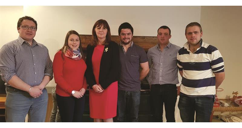 Young farmers invite Cabinet Secretary on farm