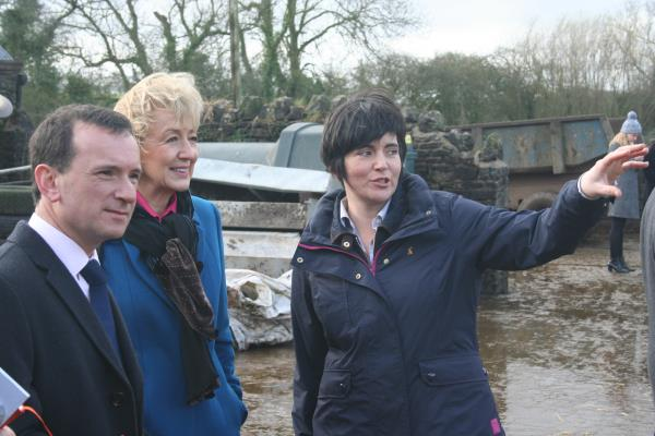 Andrea Leadsom visit to NFU Cymru farm_40867