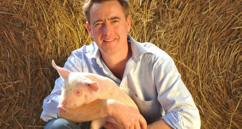 Fergus Howie - proud producer of British pork