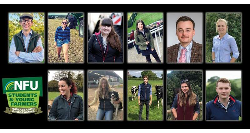 NFU announces new group of Student & Young Farmer Ambassadors