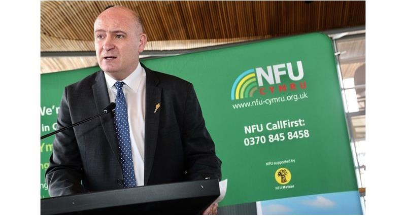 John Davies speaking at the NFU Cymru Senedd Event_69596