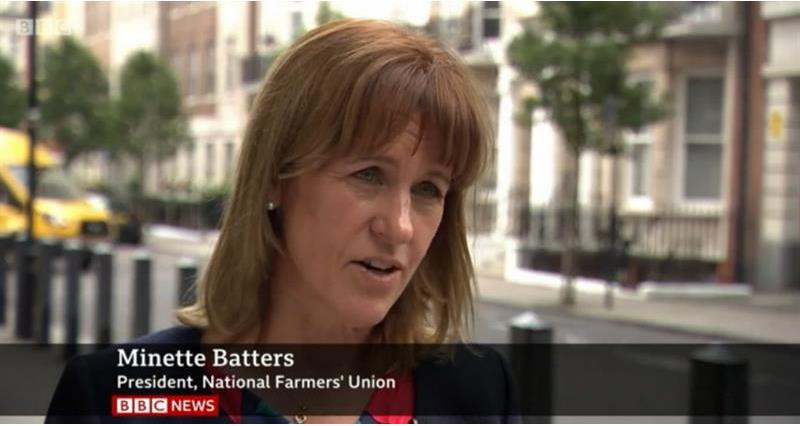 nfu president minette batters interview on bbc news about ippc land use report_67665
