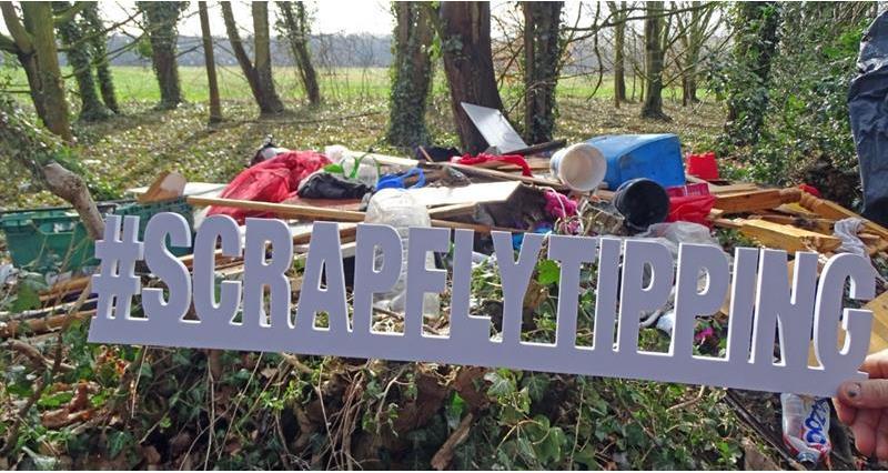 scrap flytipping sign norfolk launch brian finnerty_60682