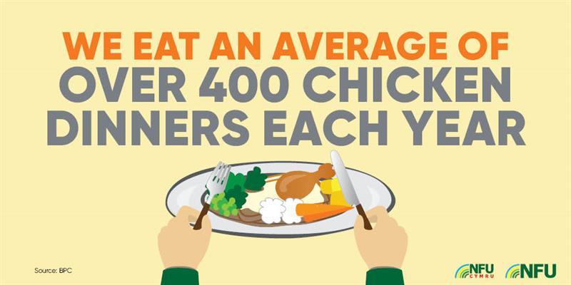 400 chicken dinners poultry infographic_72231
