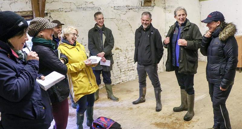 Minette Batters Big Farmland Bird Count 2019 GWCT journalists on farm_60966